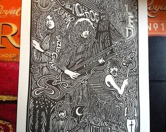 Led Zeppelin  Letterpress Print by Posterography