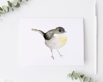 "Watercolour Bird Painting PRINT - Signed Watercolour Bird Giclee Print from Original Animal Painting - Gift - Nursery Art - 5x5"" or 5x7"""
