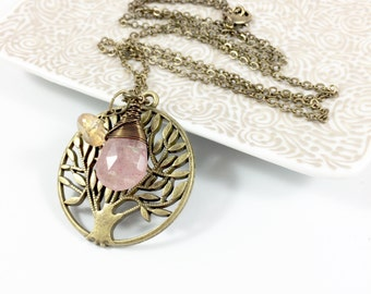 Tree of Life Necklace, Tree of Life Pendant, Boho Pendant Necklace, Fall Jewelry, Autumn Jewelry, Nature Jewelry, Tree of Life Gift