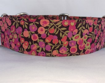 """Liberty of London Martingale Collar - Whippet, and Small to Medium Dog - 1.5"""" width - Wiltshire"""