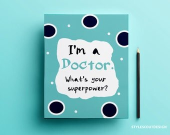 Gift for Doctors Decor, Poster Printable
