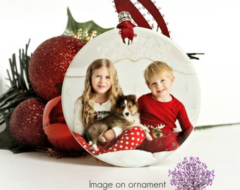 Personalized Ornament Christmas Ornament Family Gift Custom Photo Ornament Elegant Holiday Decor Porcelain Ornament Christmas Tree Ornament