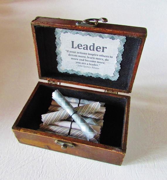 Boss Christmas Gift, Boss Birthday Gift, Leadership Gift, Boss Day Gift Leadership Quotes in Wood Chest Motivational Gift Boss Day Gift Idea