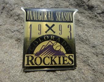Vintage Pin Pendant Brooch Colorado Rockies Pin