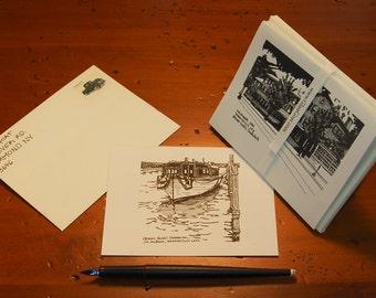 Skaneateles Lake Note Cards // Skaneateles Greeting Cards // Thank You Card Set // Skaneateles New York // Finger Lakes // Glass Goat NY