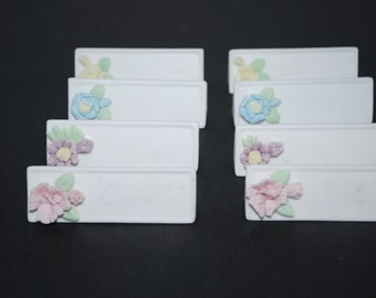 Place Cards Ceramic Place Cards Place Tags Set of 8