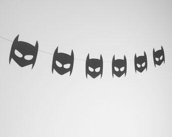 Boys batman mask garland - superhero banner