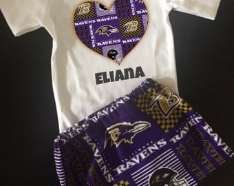 Ravens baby outfit | Etsy