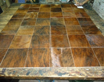 Custom Patchwork Cowhide Rugs, Choose your favorite  Color , Design and Sizes. Model RM8