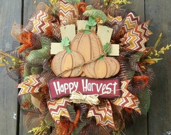 Happy Harvest Fall Wreath