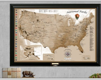 """Shop """"national park map"""" in Photography"""