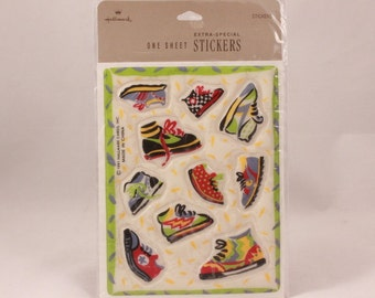 Vintage Hallmark Extra-Special 1 Sheet Puffy Shoe Stickers. Sealed