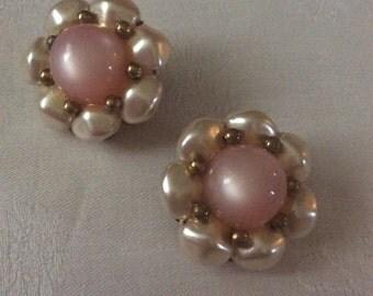 Vintage earrings faux pearl 50E