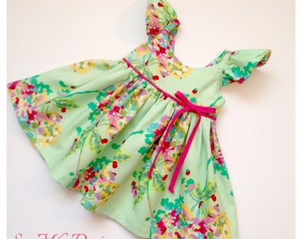 Girls dress girls clothing spring dress summer dress toddler dress baby dress flower girl dress special occasion dress Amy Butler SWD611
