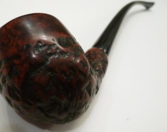 ManVsPipe New Unsmoked Rustic Egg Churchwarden Cypriot Briar Tobacco Pipe 10""