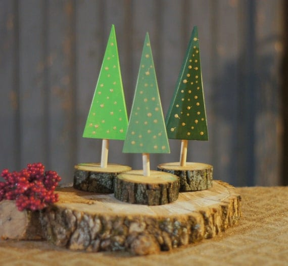 Wooden tree rustic christmas decor by gftwoodcraft on