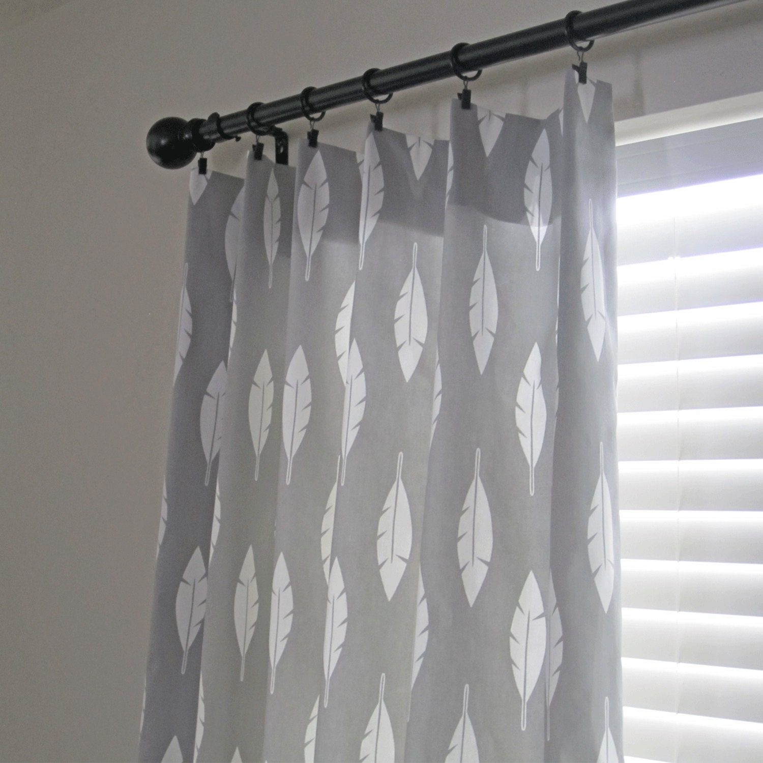 Grey Curtain Panels Feather Curtain Gray Curtains Pair Of
