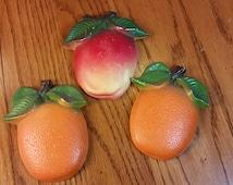 Chalkware Apple and 2 Oranges