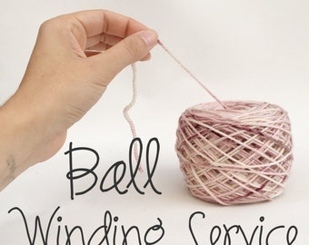 Centre-pull ball yarn winding service - from skein to ball!