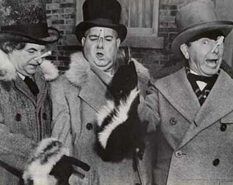 Three Stooges Larry Curly Moe Skunks TV Show Poster