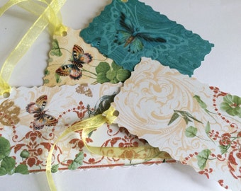 Butterfly gift tags, handmade gift tags