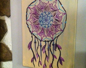One of a kind Dream Catcher Canvas Painting