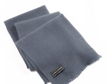 Charcoal Grey 100% Cashmere Scarf for Men