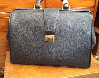 Black leather doctor bag