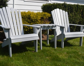 set of adirondack furniture chairs and table patio outdoor source napa bar side