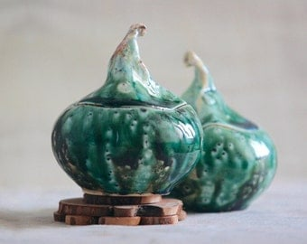 ceramics and pottery/ kitchen canisters/Ceramic container / Ceramic salt cellar with lid /ceramic lidded jar / Ceramic kitchen