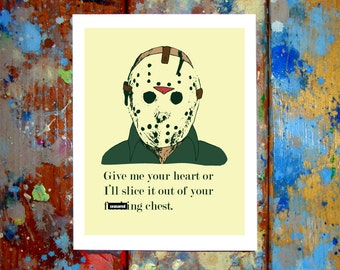 Jason Voorhees Friday The 13th I Love You Card