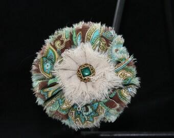 handmade shabby chic hair flower