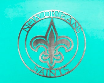 New Orleans Saints metal wall art