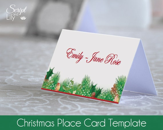dinner name card template
