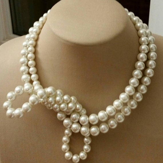 Large pearl choker2017 jewelry trend large glass pearl