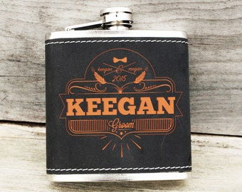 Flask - Engraved Flask - Personalized Gift for Groomsman - Best Man - Gift for Him - Personalized Flask Engraved Flask FD006/07