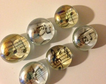 Pretty music glass fridge magnets