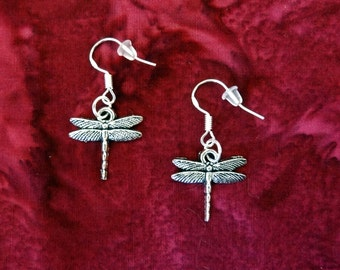 50% SALE Dragonfly Earrings..Dragonfly Jewelry..Birthday Gift for Her..Gift For Mom..Gift For Women..925 Sterling  Silver Wire FREE SHIPPING