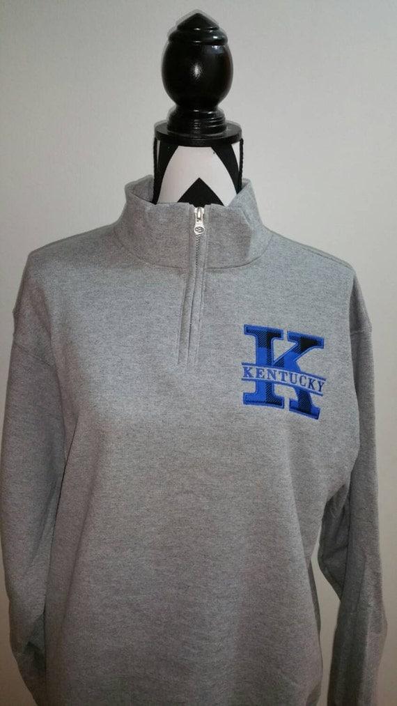 1  4 zip kentucky pullover sweatshirt quarter zip kentucky