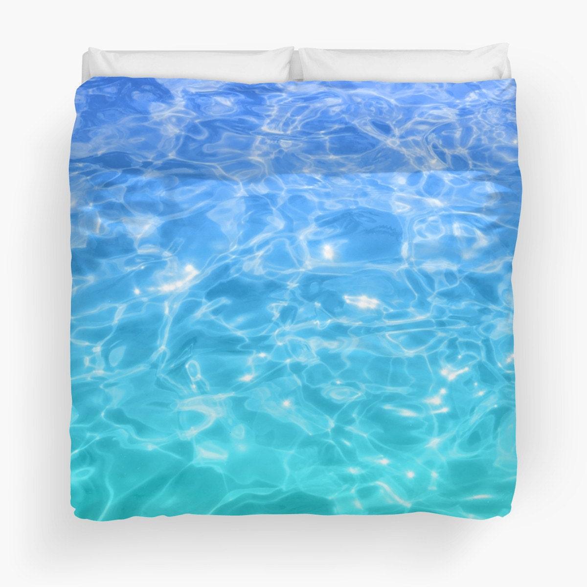 Housse de couette housse de couette bleu couette aqua eau for Housse de couette traduction