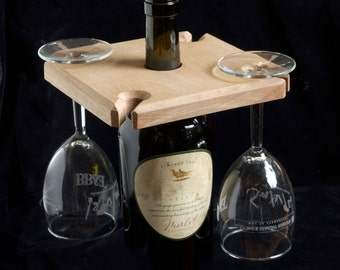 Over Bottle Wine Glass Holder