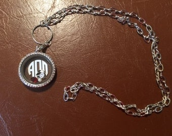 AOII Memory Locket with 12 in chain