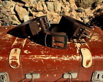 Dark Brown Leather Belt Strap