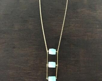 Amazonite ladder necklace