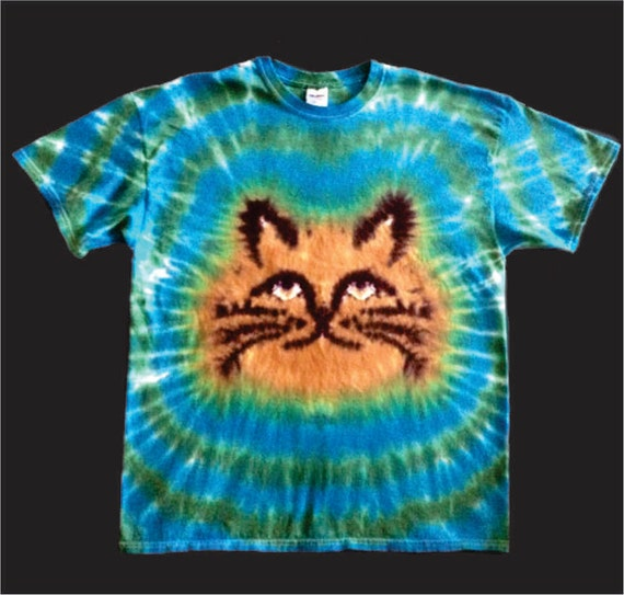 Cat tie dye shirt tye die free shipping grumpy or by for How do you dye a shirt