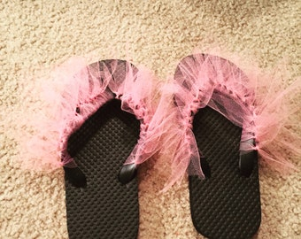 Girls custom made flip flops