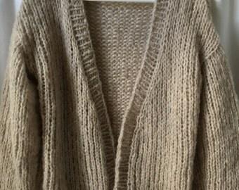 Fluffy, vest in Alpaca and silk