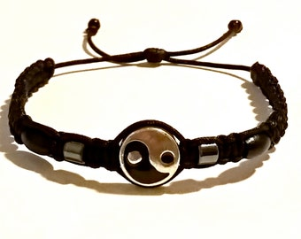 Very Nice Black Yin Yang Bracelet