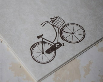 Bicycle Stationery, Letter Writing Set, Stationery Set, Stamped Stationery, Bicycle Stamp, Bicycle Writing Set, Bicycle Gift, Vintage