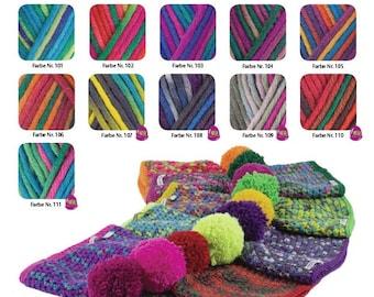 50g wool: hatnut fresh, choose color free